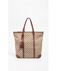f943161f90b What Goes Around Comes Around - Gucci Burgundy Canvas Marrakech Tote - Lyst