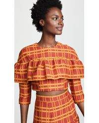 Tata Naka - Crop Top With Frill - Lyst