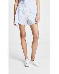 T By Alexander Wang | Combo Striped Shirting Boxer Shorts | Lyst