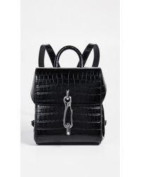 Alexander Wang - Hook Mini Croc-effect Leather Backpack - Lyst