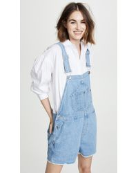 Rag & Bone - Patched Short Dungaree Overalls - Lyst