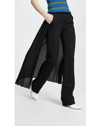 Adam Lippes - Tuxedo Trousers With Pleated Skirt - Lyst