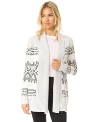 Cupcakes And Cashmere - Raleigh Jacquard Cardigan - Lyst