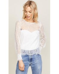 Cupcakes And Cashmere - Jenevra Lace Blouse - Lyst