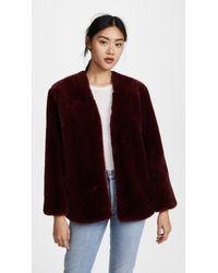 Moon River - Faux Fur Coat - Lyst
