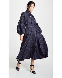 8433d1fb36 Lyst - Lee Mathews Minnie Spot Halter Dress in Natural
