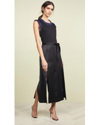 3.1 Phillip Lim - Muscle T-shirt Combo Sateen Dress - Lyst