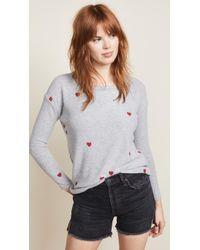 Chaser - Tiny Heart Toss Sweatshirt - Lyst