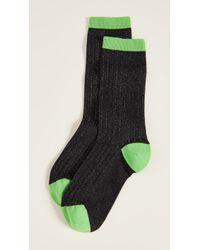 Ganni - Classon Rib Socks - Lyst