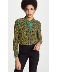 Diane von Furstenberg - Collared Shirt - Lyst