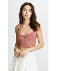 Free People - Berkinette Crochet Cami - Lyst