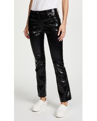 Helmut Lang | Patent Cropped Flare Pants | Lyst