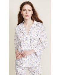 Sleepy Jones - Liberty Theo Birds Marina Pajama Shirt - Lyst