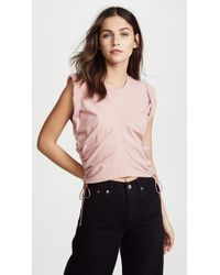 T By Alexander Wang - Jersey Crop Top With Side Ties - Lyst
