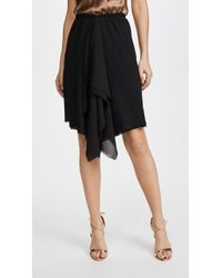 Loyd/Ford - Black Drape Skirt - Lyst