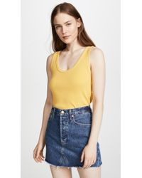 AMO - Cropped Ribbed Tank Top - Lyst