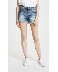 Ayr - The Cut Off Denim Shorts - Lyst