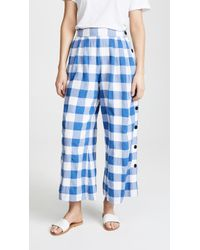 Mara Hoffman - Angie High Waist Check Organic Cotton Trousers - Lyst