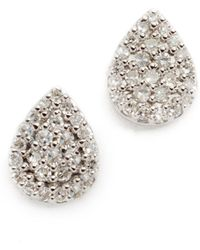 Adina Reyter - Solid Pave Teardrop Stud Earrings - Lyst