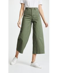 EVIDNT - Wide Leg Cropped Pants - Lyst