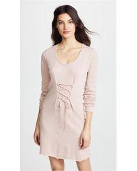 Lanston - Corset Long Sleeve Mini Dress - Lyst