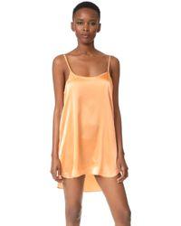 Nüdwear - Mini Silk Slip Dress - Lyst