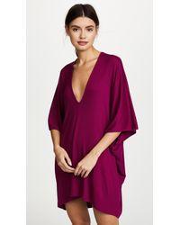Riller & Fount   Lola Ribbed Caftan Mini Dress   Lyst