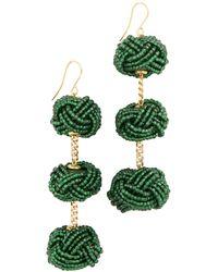 Vanessa Mooney | Beaded Astrid Knot Earrings | Lyst