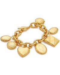 Ben-Amun - Gold Chain Locket Pendant Bracelt - Lyst