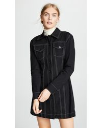 10 Crosby Derek Lam - Button-down Dress With Top Stitching - Lyst