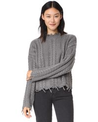 Moon River - Fringed Cable Jumper - Lyst