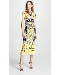 Marchesa notte - Cold Shoulder Cocktail Dress - Lyst