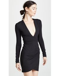 Susana Monaco - Plunge Neck Mini Dress - Lyst