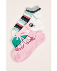 Kate Spade - 3 Pack Of Frog Socks - Lyst