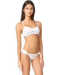 Pilyq - Lace Bralette Bikini Top - Lyst