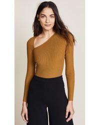 Cushnie et Ochs | Vivian Long Sleeve Asymmetrical Bodysuit | Lyst