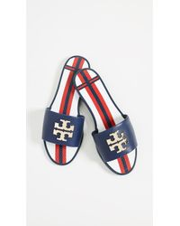 Tory Burch - Logo Jelly Slides - Lyst