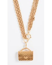 What Goes Around Comes Around - Chanel Flapbag Necklace - Lyst