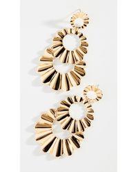 Kate Spade - Scrunched Scallops Triple Drop Earrings - Lyst