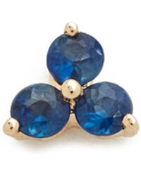 EF Collection - Blue Sapphire Trio Single Stud Earring - Lyst