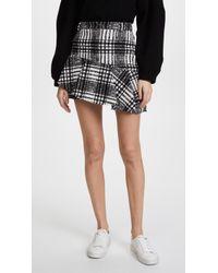 Alice + Olivia | Nisa Ruffle Miniskirt | Lyst
