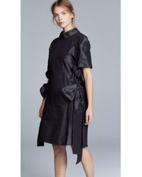 Paskal - Point Collar Dress With Ties - Lyst