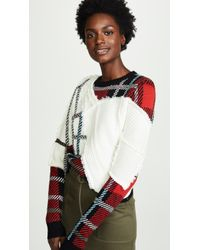 Preen By Thornton Bregazzi - Rita Mixed Knit Sweater - Lyst