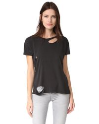 Anine Bing | Distressed Tee | Lyst