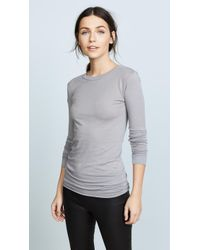 Enza Costa - Bold Long Sleeve Crew Neck Tee - Lyst