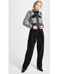 Giambattista Valli - Leather Combo Tweed Jacket - Lyst