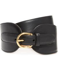 W. Kleinberg | Wide Leather Double Tab Belt | Lyst