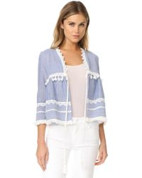 Re:named - Sabrina Striped Jacket - Lyst