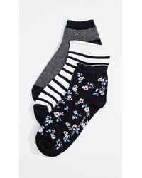 Kate Spade - Stripe Anklet Sock 3 Pack - Lyst