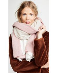 White + Warren - Cashmere Instarsia Travel Wrap Scarf - Lyst